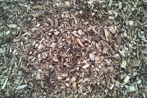 Garden bark chippings and wood chips